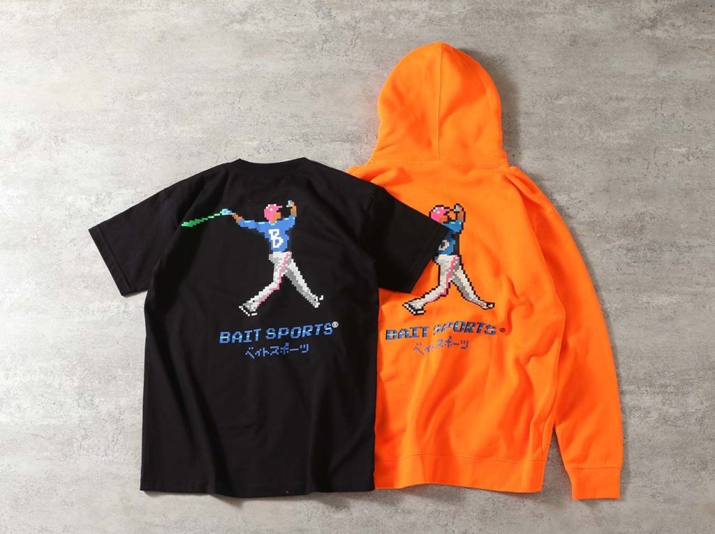 8BIT BASEBALL HOODIE/TEE – 206-BAT-PRK-001/206-BAT-TEE-001