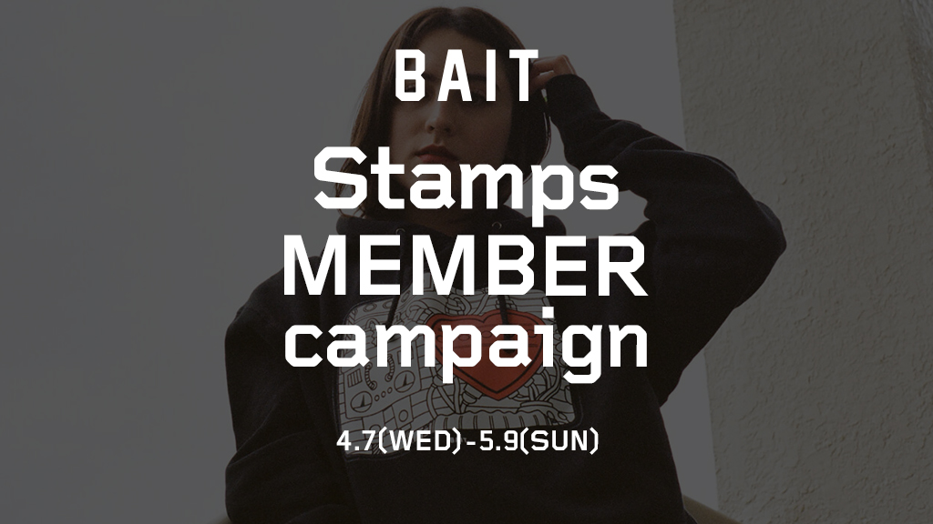 【BAIT STAMPS MEMBER CAMPAIGN】¥500OFFクーポンプレゼント