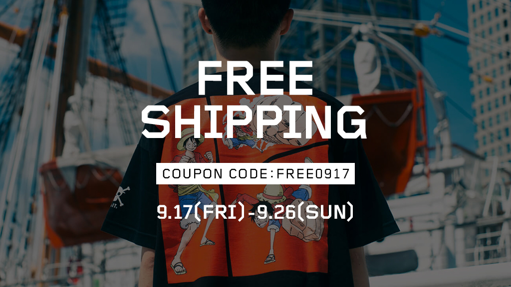【FREE SHIPPING CAMPAIGN】9/17(FRI)~9/26(SUN)