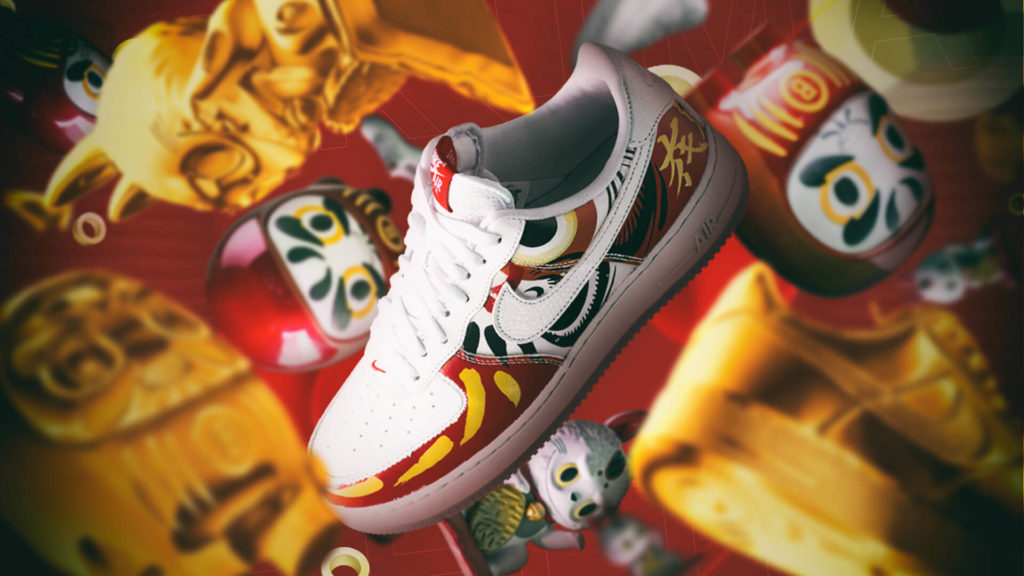 "HAPPY NEW YEAR 2021FROM BAITAND NIKE AIR FORCE 1 LOW ""I BELIEVE DARUMA""!"